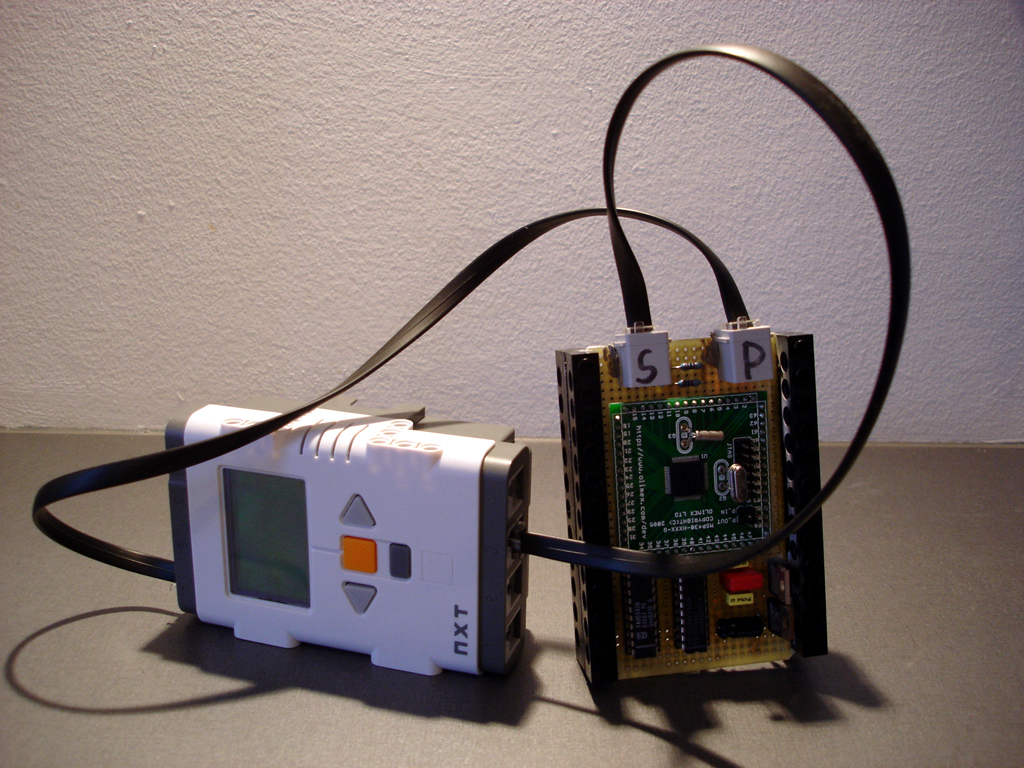 Here the RFID reader is powered from the motor port