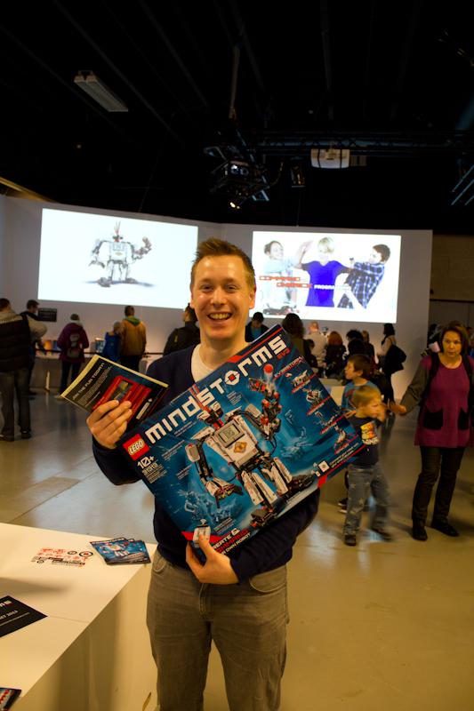 Me holding a EV3 box