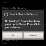 Press Ok to go to Bluetooth settings