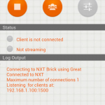 Press start and determine the phones IP-Address