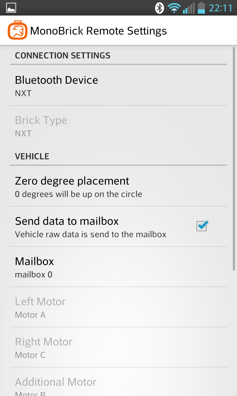 "Check ""send data to mailbox"" under vehicle"
