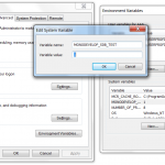 Add a environment variable