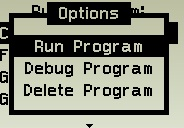 Select run program