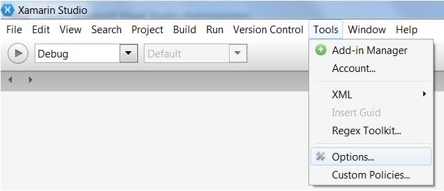Options on Windows